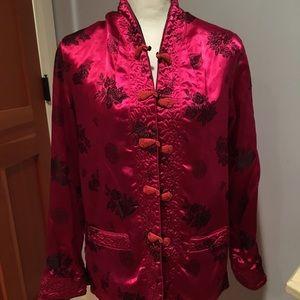 💕🌸 Reversible Chinese Jacket, size M